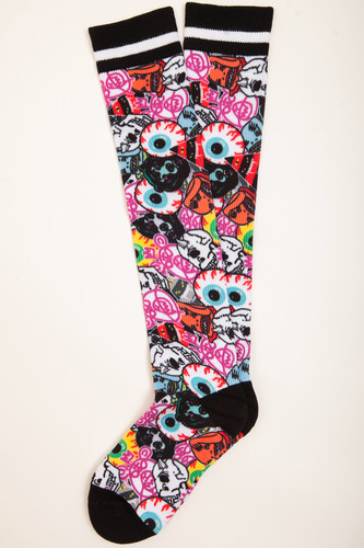 Носки MISHKA Printed Socks MAW183301F00 (Multicolor, O/S)