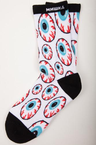 лучшая цена Носки MISHKA Printed Socks MAW183305F80 (Off White, O/S)