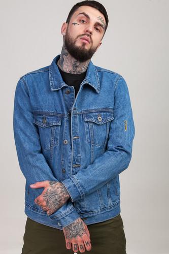 цена Куртка ЗАПОРОЖЕЦ ZAP-JK01 Men's Denim Jacket (Mid-Blue, 2XL) онлайн в 2017 году