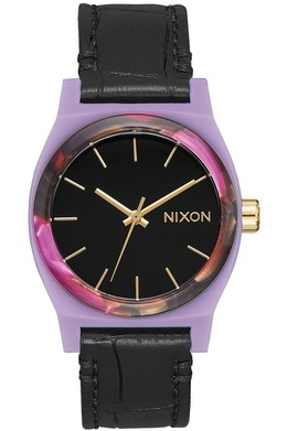 Часы NIXON MEDIUM TIME TELLER LEATHER Magenta/Mix фото