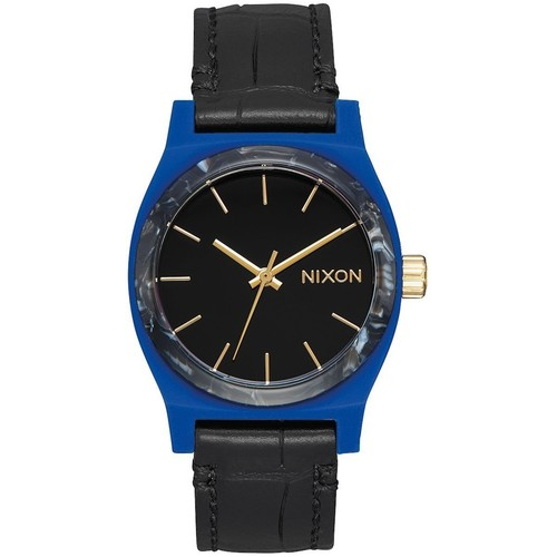 Часы NIXON MEDIUM TIME TELLER LEATHER (Navy/Mix) часы nixon time teller deluxe leather navy sunray brow