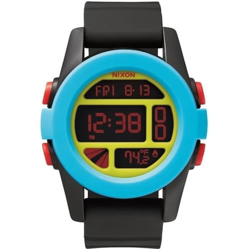 Часы NIXON Unit Black/Blue/Chartreuse фото 3