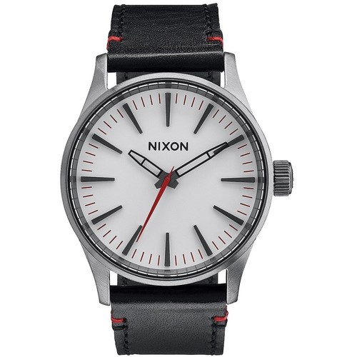 Часы NIXON SENTRY 38 LEATHER (GUNMETAL/WHITE) часы nixon sentry ss blue sunray
