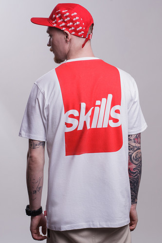 Футболка SKILLS Label (Snow White, XS)
