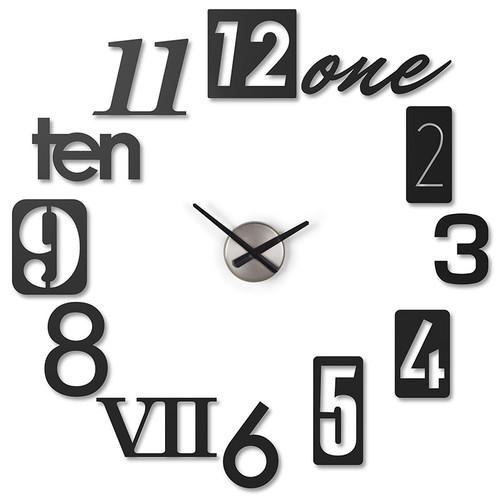 Часы настенные numbra черные (Черный)