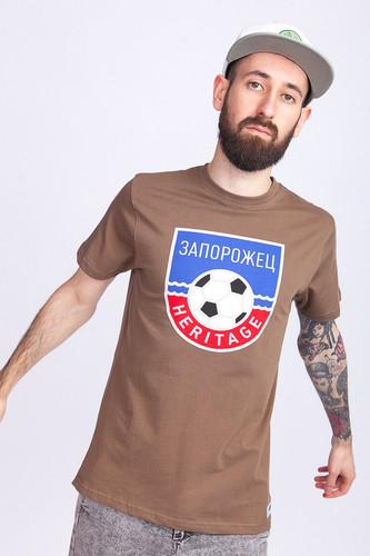 Футболка ЗАПОРОЖЕЦ Футбол Герб (Chocolate Chip, 2XL)