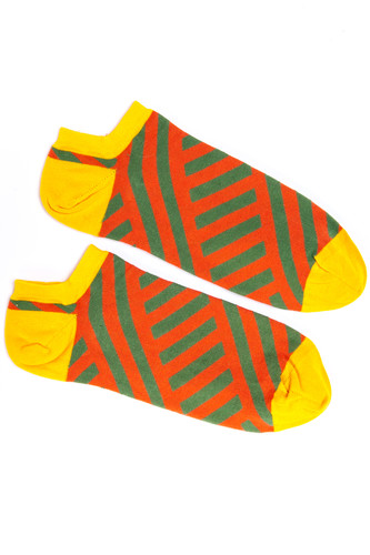 Носки BURNING HEELS Диагональ короткие (Оранжевый, 39-41)