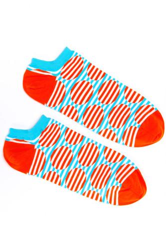 Носки BURNING HEELS Круги короткие (Оранжевый, 42-45)
