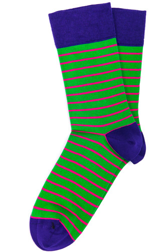 Носки BURNING HEELS Тонкая Полоса (Зеленый, 42-45)