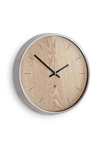 цена на Настенные часы madera светлое дерево (металлик)