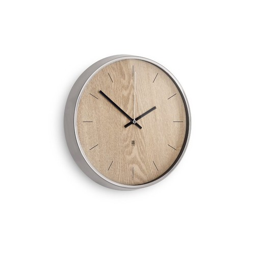 Настенные часы madera светлое дерево (металлик)