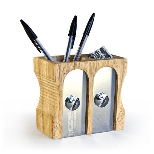 Органайзер для рабочего стола double sharpener (Бежевый)