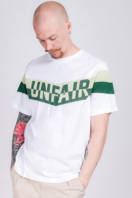 Футболка UNFAIR ATHLETICS Unfair Flag T-Shirt White/Green фото