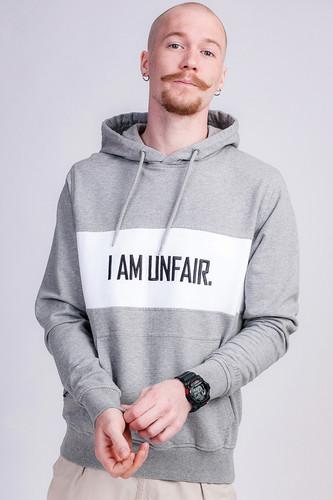 Толстовка UNFAIR ATHLETICS I am Unfair Hoodie (Heather Grey, M) heather grey drop shoulder crossover hoodie