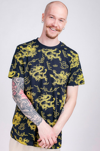 Футболка MISTER TEE Dragon Tee (Navy, M) top tee футболка