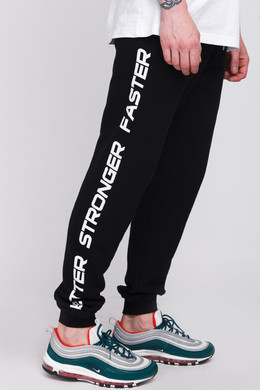 Брюки TRUESPIN Slogan Pants Deep Black фото