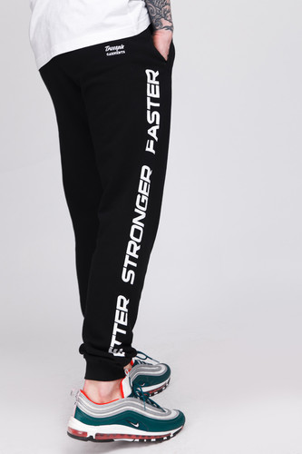 Брюки TRUESPIN Slogan Pants Deep Black фото 10