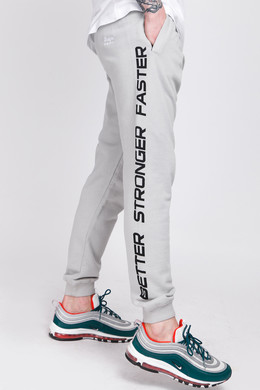 Брюки TRUESPIN Slogan Pants Grey Violet фото
