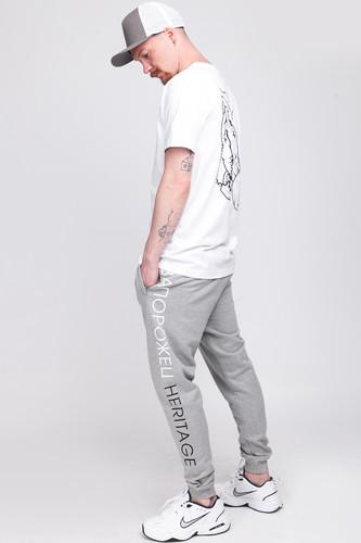 Брюки ЗАПОРОЖЕЦ Logo Pants 2 (Grey Melange, 2XL)