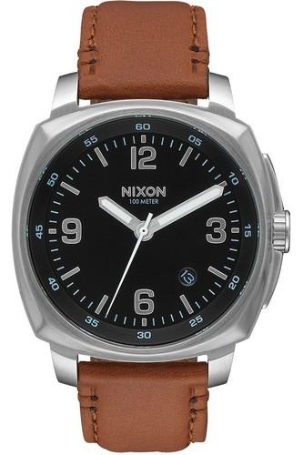 Часы NIXON CHARGER LEATHER (BLACK/SADDLE)