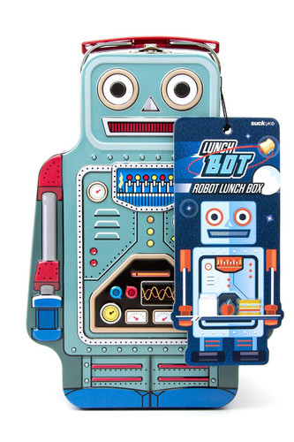Ланч-бокс robot (Голубой) оригинальный подарок suck uk musical ruler