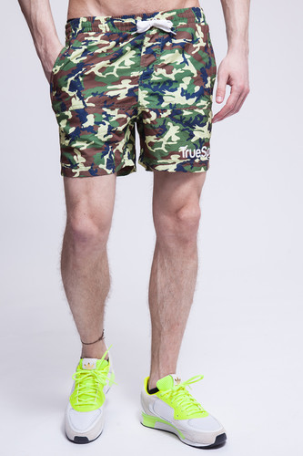Шорты TRUESPIN Camo Shorts (Green Camo, S)