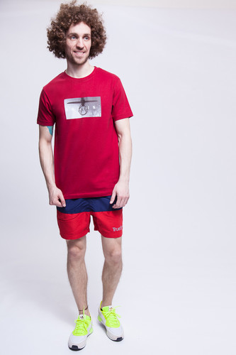 Шорты TRUESPIN Basics Swim Shorts Navy/Red фото 6