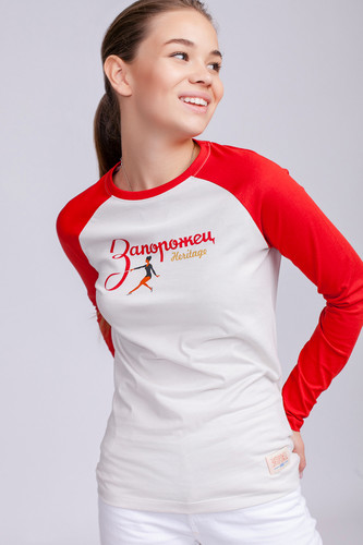 Лонгслив ЗАПОРОЖЕЦ Gimnastika женский (Puppy Red/Nimbus Cloud, XL)