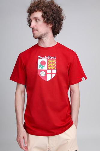 Футболка TWEED&STOUT Англия (Красный, M)