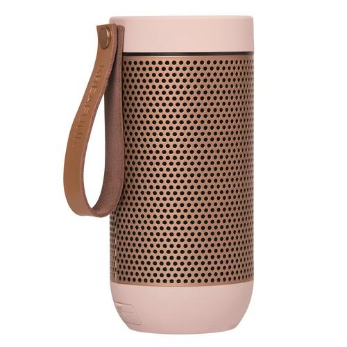 Фото - Колонка беспроводная с ремешком afunk, светло-розовая с бронзой (Pink) new dacom tws true wireless bluetooth