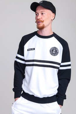 Толстовка UNFAIR ATHLETICS DMWU Crewneck White/Black фото