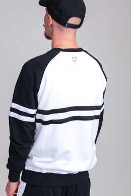 Толстовка UNFAIR ATHLETICS DMWU Crewneck White/Black фото 2