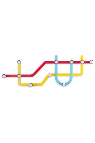 Вешалка subway, разноцветная (мультиколор)