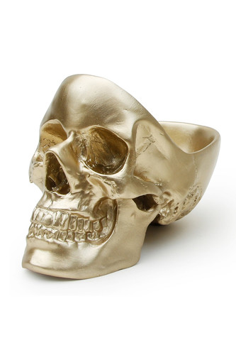 Органайзер для мелочей skull, золотой (Золотой) золотой горшок