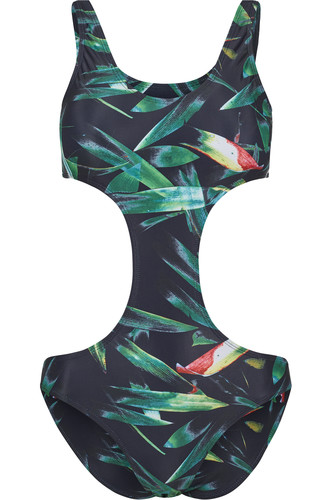 Купальник URBAN CLASSICS Ladies Tropical Monokini (Leaf, L)