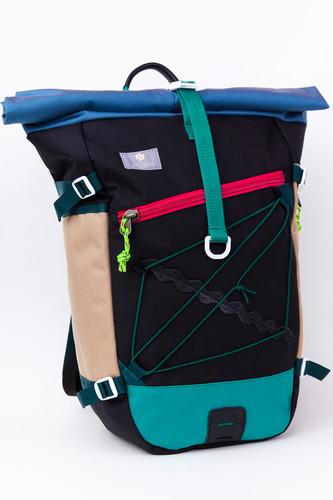 Рюкзак GOSHA OREKHOV Grubo 500 Rolltop (Голубой Индиго/Черный)