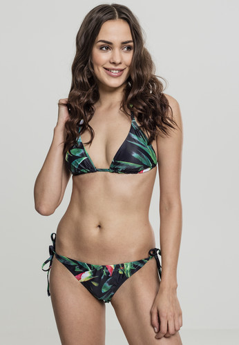 цена Купальник URBAN CLASSICS Ladies Tropical Bikini (Leaf, L) онлайн в 2017 году