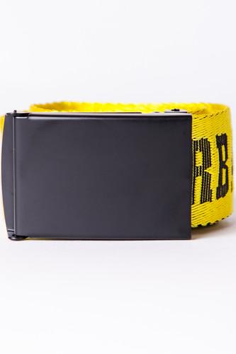 Ремень URBAN CLASSICS Jaquard Logo Belt (Black/Yellow/Black, 120 см) сумка urban classics multi pocket shoulder bag black black