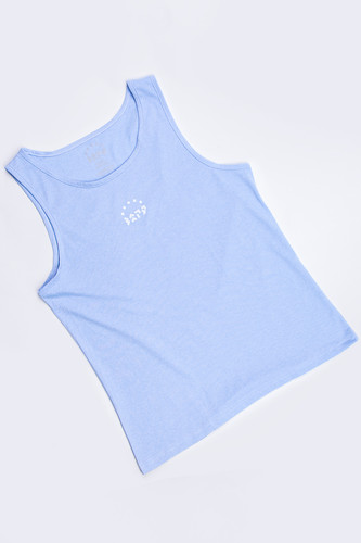 Майка ЗАРЯ Basic M12 (Голубой, L) джоггеры заря фетт jg11 экрю лого l