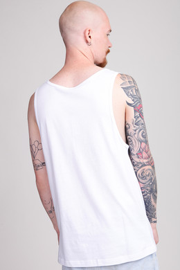 Майка URBAN CLASSICS Contrast Pocket Jersey Big Tank White/Black Bandana фото 2