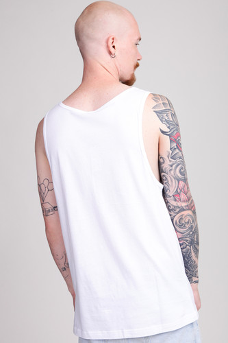 Майка URBAN CLASSICS Contrast Pocket Jersey Big Tank White/Black Bandana фото 6