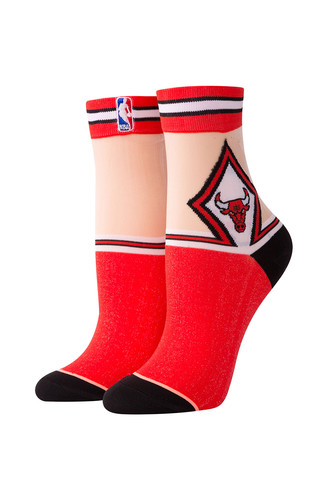 носки средние stance nba oncourt qtr thin stripe red Носки STANCE NBA ARENA BULLS ANKLET (Red, one size)