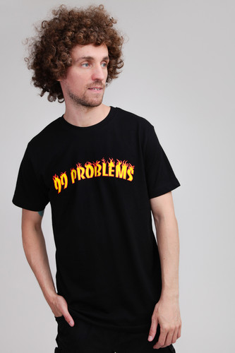 Футболка MISTER TEE 99 Problems Flames Tee (Black, 2XL) футболка mister tee cream skull tee white 2xl