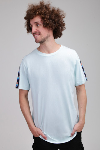 Футболка PINK DOLPHIN Wave Sport Tee (Light Blue, S) men ombre tee with drawstring shorts