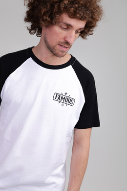 Футболка FAMOUS Chaos Patch Raglan Tee White/Black фото