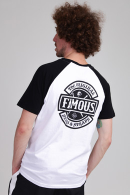 Футболка FAMOUS Chaos Patch Raglan Tee White/Black фото 2