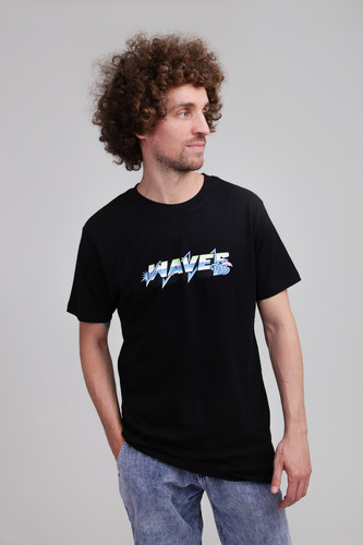 Футболка PINK DOLPHIN Electric Waves Tee (Black, L)
