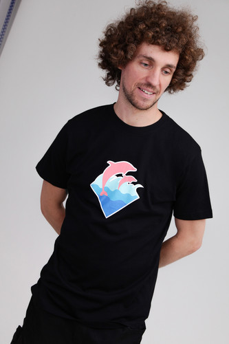 Футболка PINK DOLPHIN Pink Dolphin Logo Tee (Black, L)