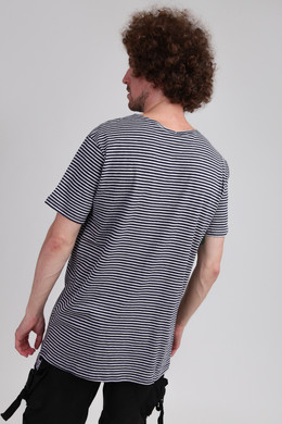Футболка URBAN CLASSICS Yarn Dyed Baby Stripe Tee Mid Night Navy/Grey фото 2