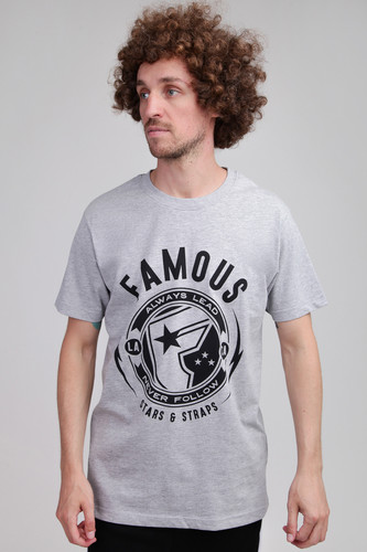 Футболка FAMOUS Shocker Tee (Heather Grey, L)